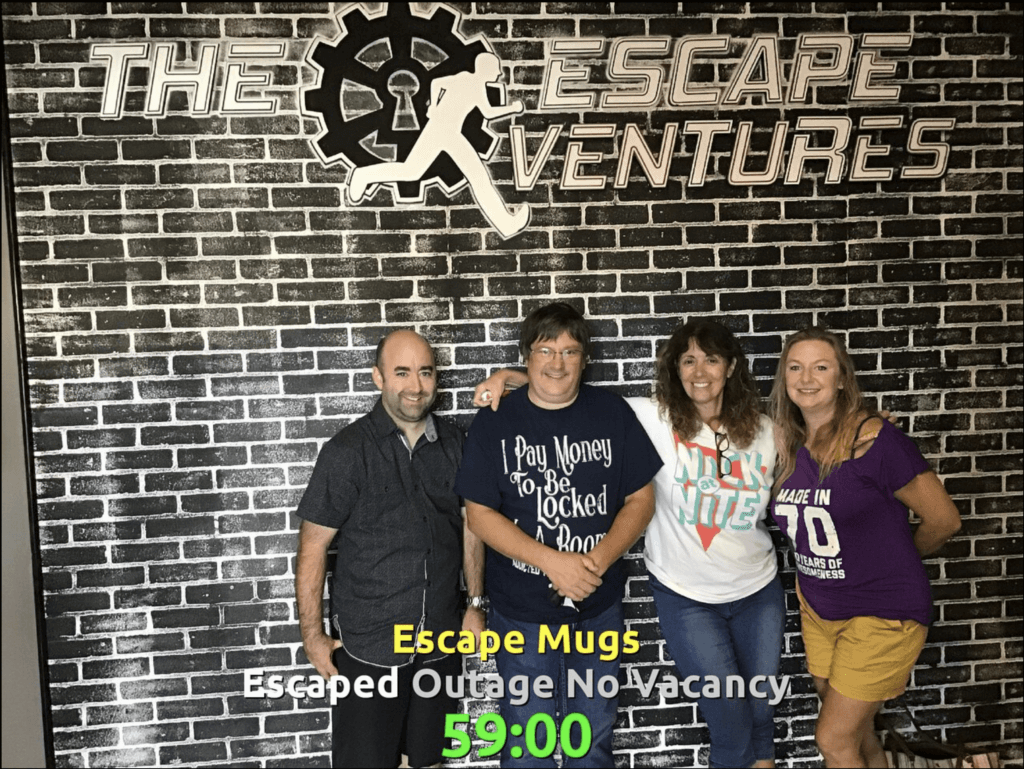Escape Room Winners – Outage No Vacancy – 59 minutes